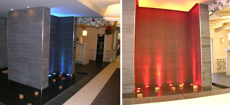 Pareti particolari best pareti attrezzate in cartongesso for Pareti colorate particolari